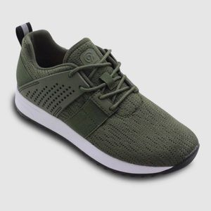 Champion Olive Green Knit Jogger Sneakers sz 10